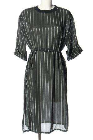 Shirtkleid schwarz-weiß Streifenmuster Elegant