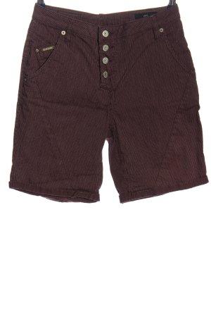 Levy Clothing Shorts braun-wollweiß Streifenmuster Casual-Look