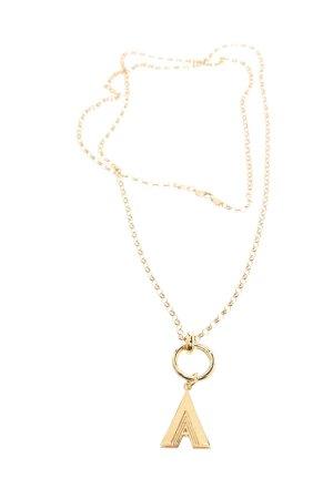 Silberkette goldfarben Casual-Look