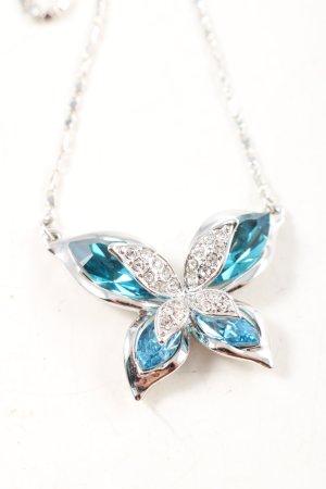Cadena de plata color plata-azul elegante