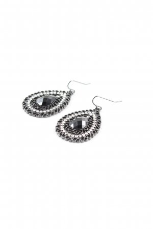 Silver Earrings silver-colored-black elegant
