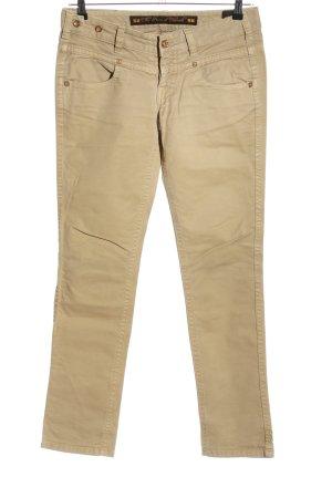 Jeans slim crème style décontracté