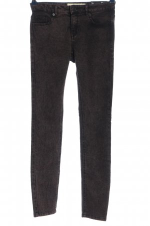 Gina Tricot Slim Jeans schwarz-rot meliert Casual-Look