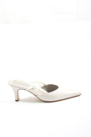 JACQUELINE MICHIE Tacones sin talón blanco puro look casual