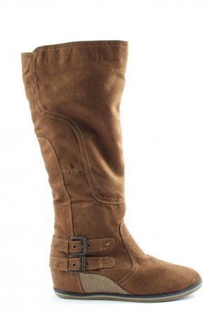 Slouch Boots brown casual look