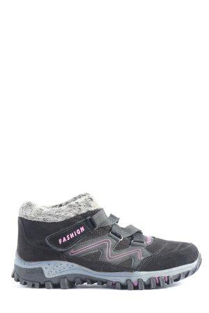 Sneaker Klettverschluss schwarz-pink sportlicher Stil
