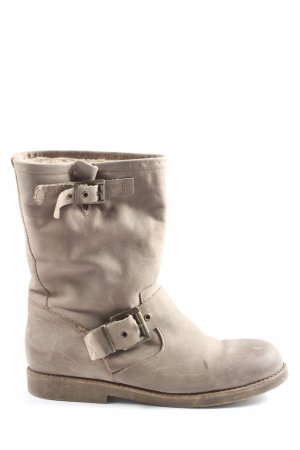 Slouch Booties light grey casual look