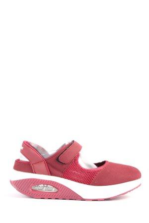 Zapatillas con hook-and-loop fastener rosa-blanco look casual