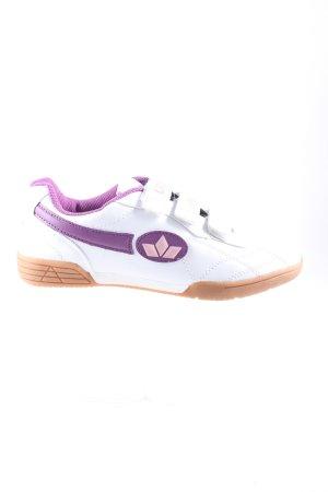 Lico Sneaker Klettverschluss weiß-lila Casual-Look