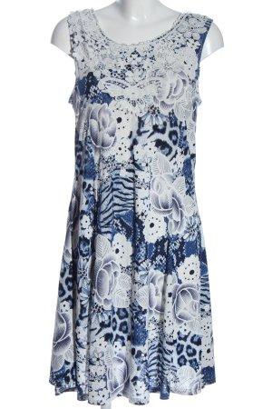 Nike Sommerkleid blau-weiß Allover-Druck Casual-Look