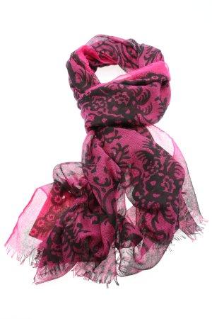 Nicole Marciano Summer Scarf pink-black allover print casual look