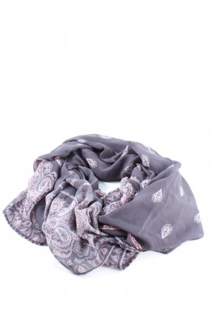 Summer Scarf lilac-white allover print casual look