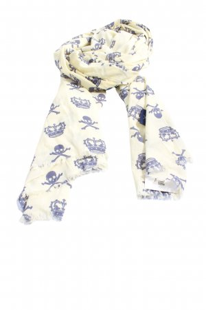 Summer Scarf white-blue allover print casual look