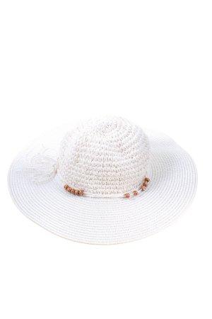Smart Set Kapelusz przeciwsłoneczny biały W stylu casual