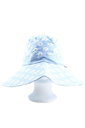 NaRaYa Sombrero de ala ancha estampado repetido sobre toda la superficie