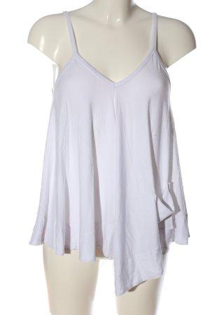 MOB Industries Top z cienkimi ramiączkami biały W stylu casual