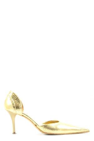 Jolie Pointed Toe Pumps gold-colored elegant