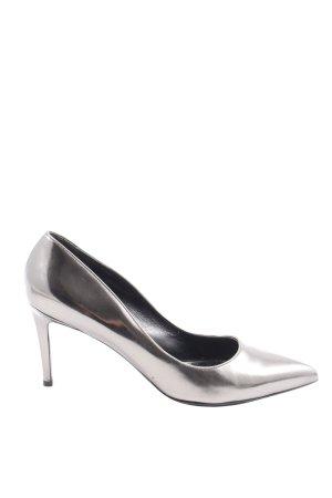 Scho Shoes Milano Zapatos de punta color plata elegante