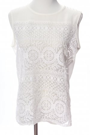 Lace Blouse white mixed pattern business style