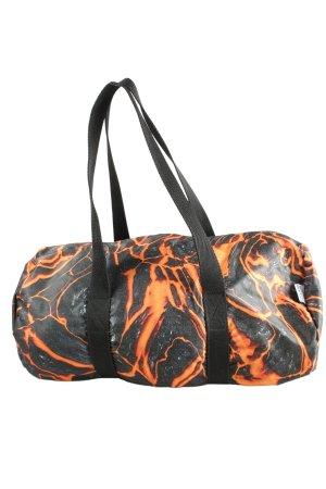 Mousse Sac de sport noir-orange clair motif abstrait style décontracté