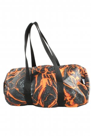 Mousse Sporttas zwart-licht Oranje abstract patroon casual uitstraling