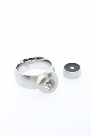 manuela carl Statement Ring silver-colored casual look