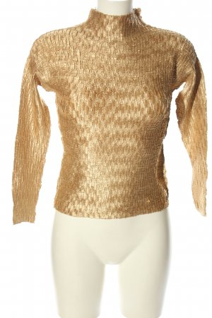 Wonder Tee Stand-Up Collar Blouse gold-colored casual look