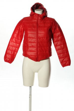 fashion classic Steppjacke rot Steppmuster Casual-Look