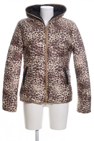 Gewatteerd jack luipaardprint casual uitstraling