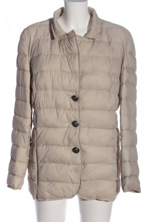 Quilted Jacket light grey quilting pattern casual look