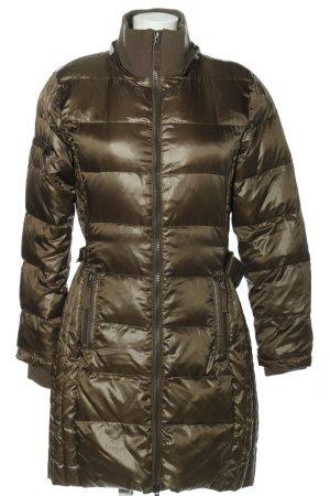Cappotto trapuntato marrone motivo trapuntato stile casual