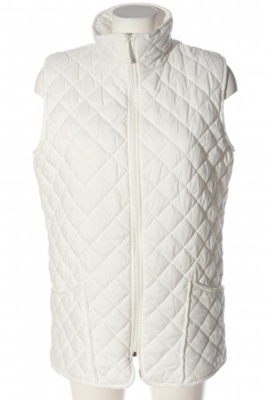 polysoft Quilted Gilet white quilting pattern casual look