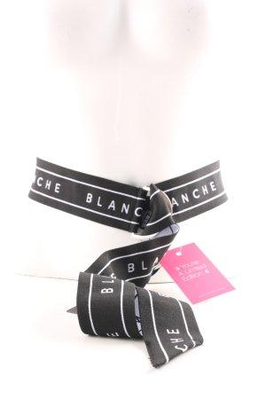Stoffen riem zwart-wit prints met een thema casual uitstraling