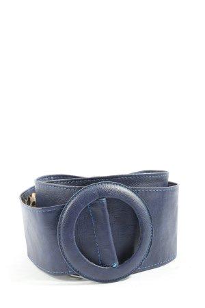 Biro Cinturón de tela azul look casual