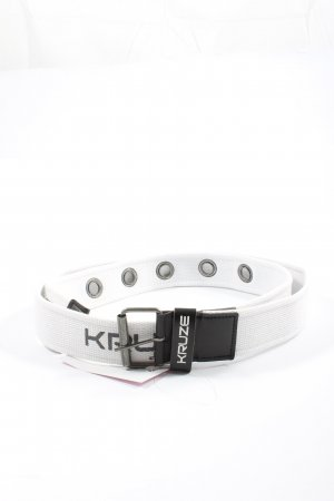 kruze Fabric Belt white printed lettering casual look