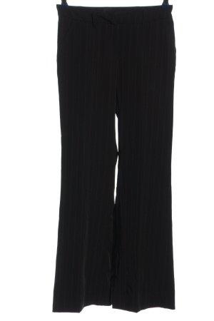 Style Spodnie materiałowe czarny Wzór w paski W stylu biznesowym