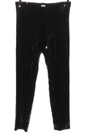 amz paris Stoffhose schwarz Glanz-Optik