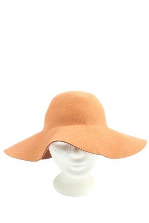 sassymanii Cappello a falde larghe arancione chiaro stile casual