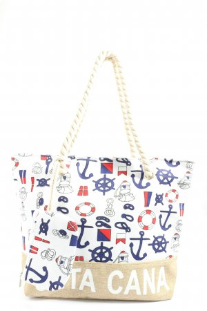 punt cana Stofftasche Allover-Druck Casual-Look