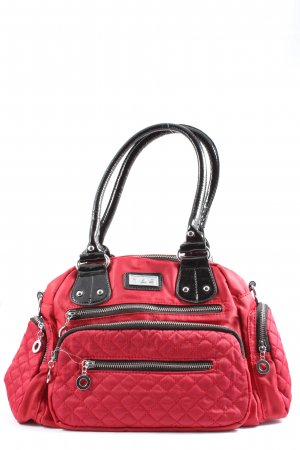 Stofftasche rot-schwarz Casual-Look
