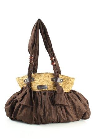 Torebka materiałowa brązowy W stylu casual