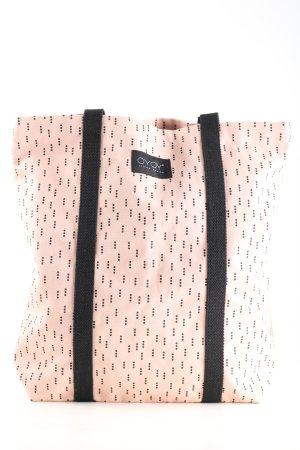 Torebka materiałowa kremowy-czarny Na całej powierzchni W stylu casual