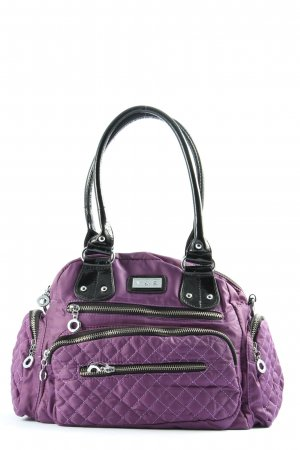 Stofftasche lila Steppmuster Casual-Look
