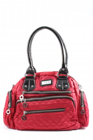 Canvas Bag red quilting pattern casual look