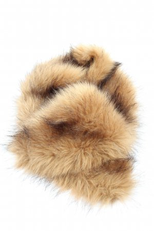 Fluffy Furs Chal nude-marrón look casual