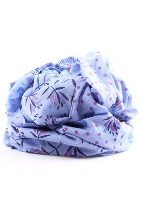Fazzoletto da collo blu-lilla stampa integrale stile casual