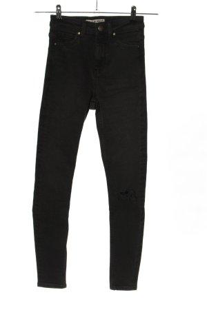 H&M DENIM Stretch jeans zwart casual uitstraling