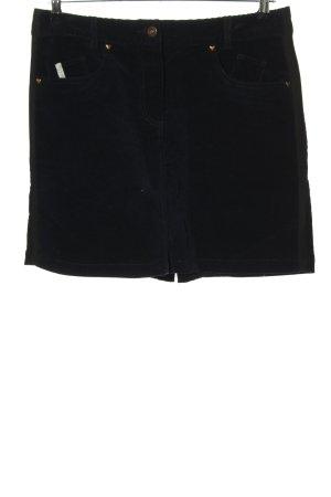 Stretchrock schwarz Casual-Look