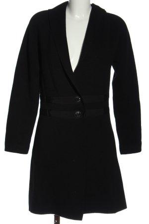 Wollen jas zwart casual uitstraling