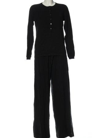 leimere Dzianinowy podwójny zestaw  czarny W stylu casual